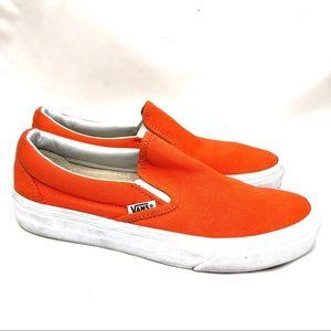 Vans orange slip ones women's size 6